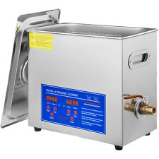 Vevor New 6l Ultrasonic Cleaner Stainless Steel Industry Heated Heater Withtimer