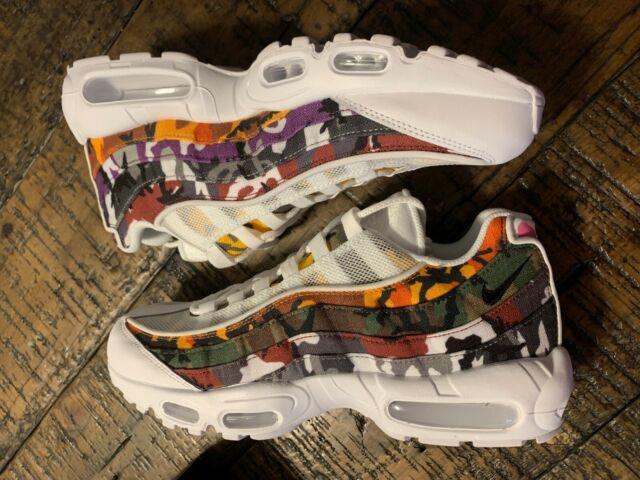 4c6d09d68b1 Nike Air Max 95 ERDL Party Mens Size 7 Shoes White Camo Multi Color Ar4473  100
