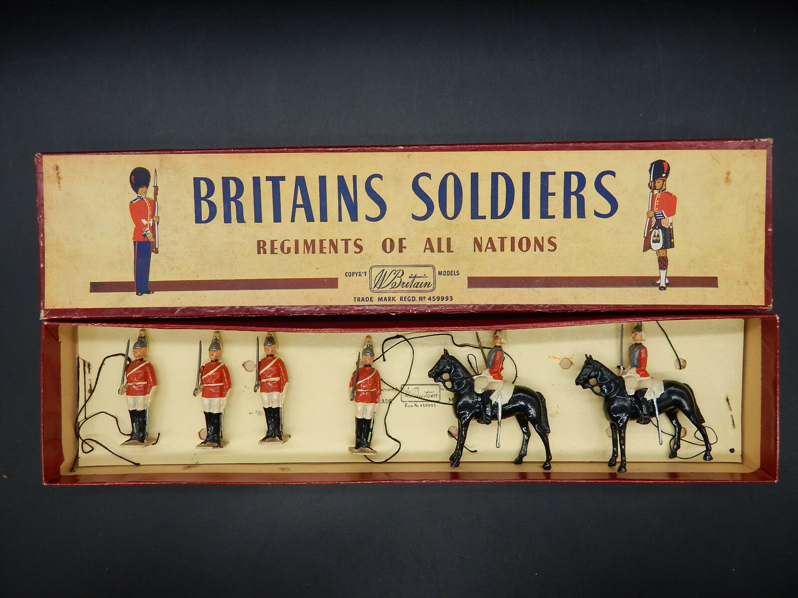 Britains The LIFE GUARDS British Army figure figure figure set 2029 ROAN box cavalry foot NICE 6c34f6