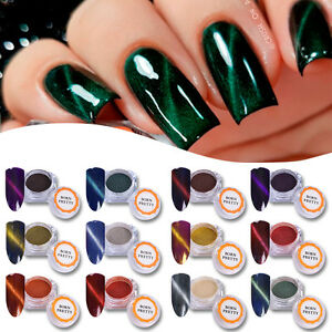 Cat Eye Magnetic Nail Glitter Powder Magnet Nail Art Pigment Dust Born Pretty Ebay