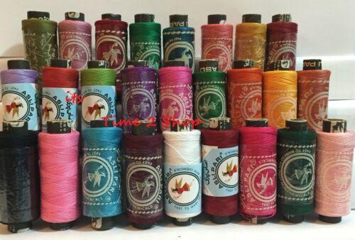 25 Sewing Todo Propósito 100/% Puro Algodón Carretes Colores Carretes todo propósito Threads