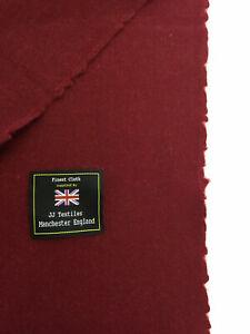 JOSHUA-ELLIS-Burgundy-Twill-Weave-100-Lambswool-Jacket-Fabric-300g