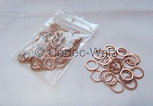 3 Pièces Cuivre Joint d/'étanchéité joint cuivre 10x14x1 mm Din 7603 Forme A