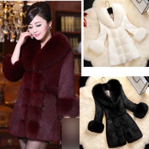Luxueux 6xl De Manteau S Long Parka Lapin Veste Womans Outwear De Renard Cheveux Mid Fourrure ZwgtPFq