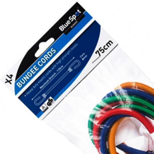 Clearance 75mm Bungee Shock Elastic Stretch Cords Set Of 4pce Heavy Duty