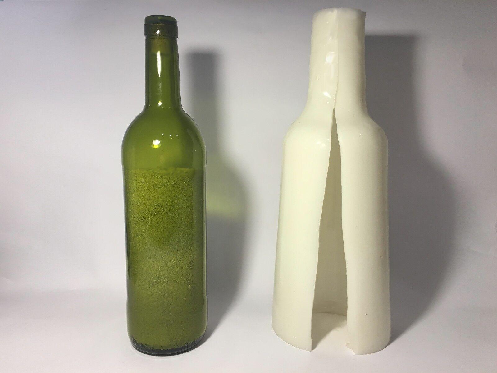 Molde de Silicona 3D Botella de vino Molde Isomalt Azúcar Para Decoración De Pasteles Topper De Vidrio