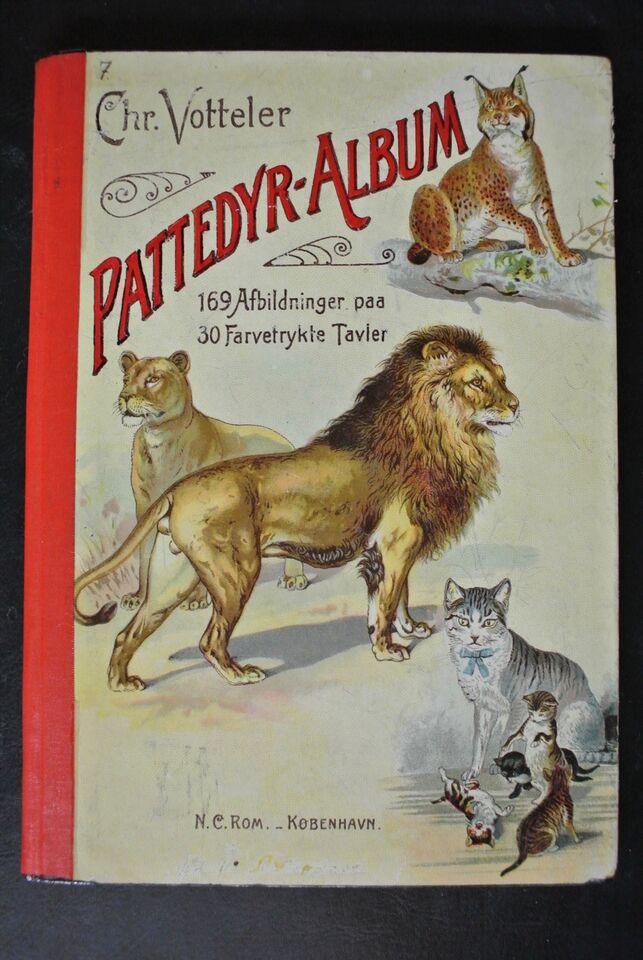 pattedyr-album, chr. votteler, emne: dyr