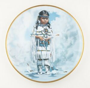 034-Crow-Baby-034-by-Penni-Anne-Cross-Crown-Parian-Collectible-Plate-201-7500-1979