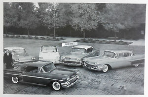 GM-Line-up-of-Cars-for-1958-12-By-18-034-Black-amp-White-Picture