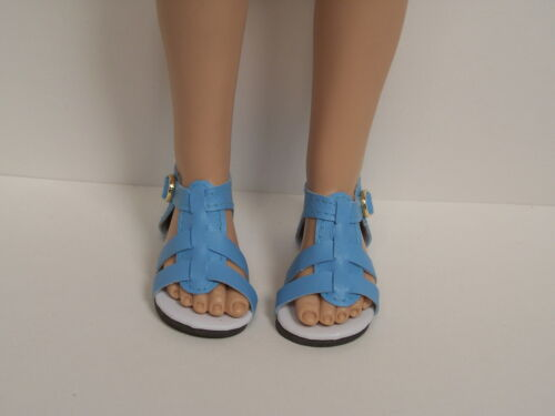 """SKY BLUE Strappy Sandal Doll Shoes For 16/"""" Kish Spring Summer Winter Fall Debs"""