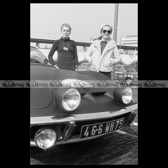 #pha.019701 Photo OPEL GT 1900 MARIE-CLAUDE BEAUMONT TULIP RALLY 1970