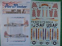 1:72 Scale Decals - 86th Fbg Thunderjets Pt. I Aeromaster No. 72-195 F-84g