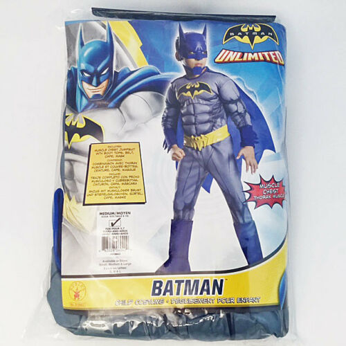 RUBIE/'S BATMAN UNLIMITED DELUXE MUSCLE CHEST COSTUME SET BOYS MEDIUM NEW! 18407