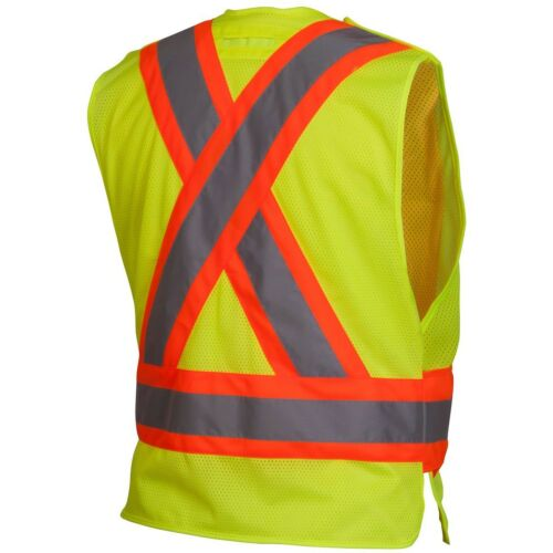 Yellow//Lime Pyramex Class 2 Reflective Adjustable Two-Tone Mesh Safety Vest