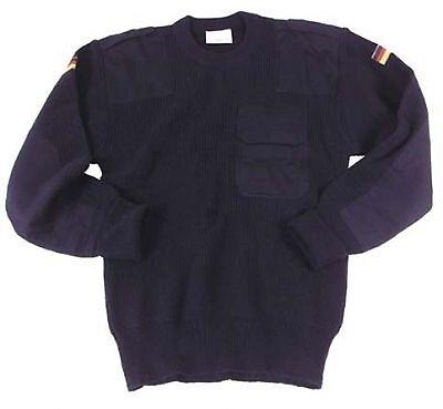 Intelligente Esercito Tedesco Bw Marine Luftwaffe Pullover Blu Tg. 56-mostra Il Titolo Originale