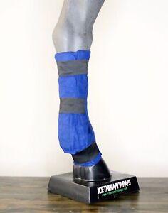 Equine Eis Wrap Paar - 2 vorne/Hinterbeine Bein Freiheit Pferd Kanone Knochen Streichkappen Splint
