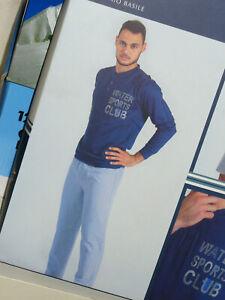 pigiama uomo INTIMAMI manica e pantalone lungo cotone Tg 6//XL colore GRIGIO NERO