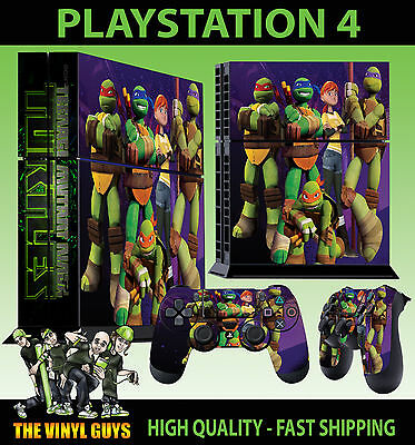 Fine Ps4 Skin Nick Toon Teenage Mutant Ninja Turtles Adesivo+pastiglie Decalcomanie Video Game Accessories
