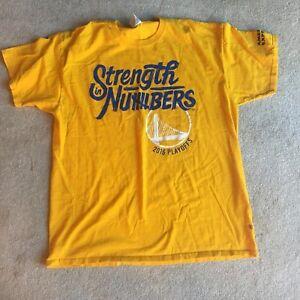 b3a76ea1 Details about Golden State Warriors 2016 Finals T-Shirt Basketball NBA  Yellow Blue XL