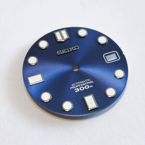 MM300-Dial-for-Seiko-SKX007-MARINEMASTER-300-Navy-Blue-fits-NH35-C3Lume