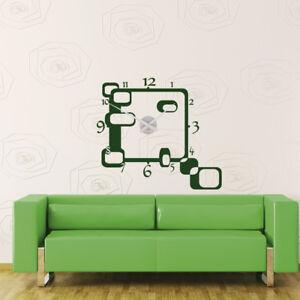 Das Bild Wird Geladen Wandtattoo  Uhr Wanduhr KARLSSON Quadrat Rechteck Retro Style