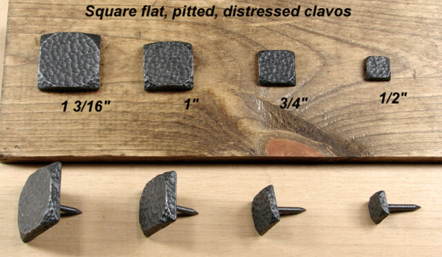"""10 3//4/"""" square Rusic nails Clavos Lot of Oil rubbed bronze pitted"""