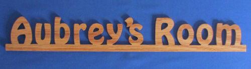 Cut From Oak Or Walnut Great For Bedroom Door Or Wall Personalized Door Sign