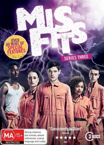 1 of 1 - Misfits : Series 3 (DVD, 2012, 3-Disc Set) R4 New, ExRetail Stock (D165)