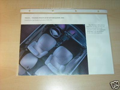 10589) Opel Tigra Farben & Polster Prospekt 1999 Um Jeden Preis