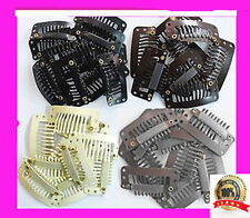 QUALITY SNAP CLIPS FOR HAIR EXTENSIONS / WIGS in BLACK* BROWN* BLONDE* 33mm