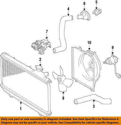 TOYOTA OEM 92-01 Camry-Engine Coolant Thermostat Housing 1632103060  16321-74050