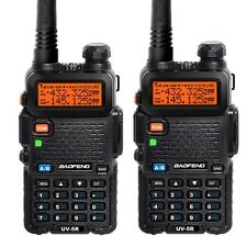 2 X BaoFeng UV-5R VHF/UHF Dual Band 136-174/400-480Mhz Transceiver Two-Way Radio