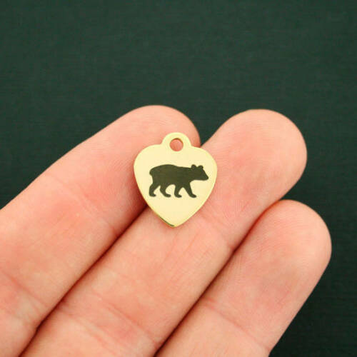BFS2180GOLD Quantity Options Baby Bear Stainless Steel Charm