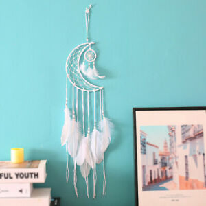 Handmade-Dream-Catcher-With-Feather-Wood-Beads-Wall-Car-Hanging-Decor-Ornament