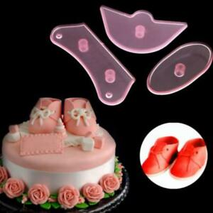 3Pcs-Baby-Shoes-Silicone-Mould-Fondant-Mold-Cake-Decorating-Sugarcraft-LH