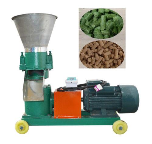 3mm Chicken Feed Pellet Mill Machine Farm Animal Feed Machine Fodder Press 220V