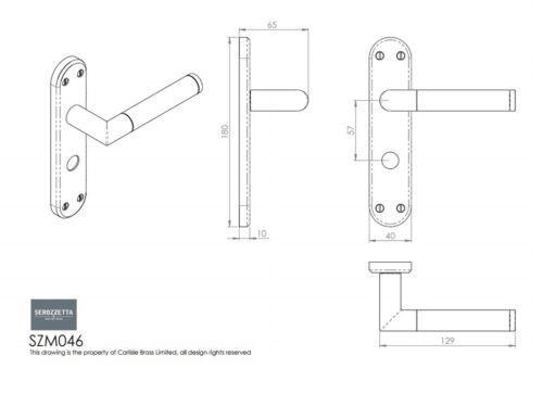 Carlisle Brass Serozzetta Scope Lever on Backplate Door Handle Pair SZM04
