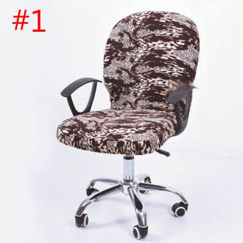 Pop Swivel Chair Cover Modern Floral Office Study Room Armchair Comfy Slipcover