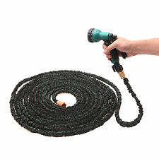 Hot Sell 100FT Expanding Flexible Garden Water Hose Pipe w/ Spray Nozzle Upgrade