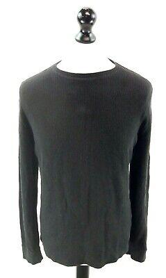 Calvin Klein Da Uomo Maglione Pullover M Media Nera Cotone & Modal-mostra Il Titolo Originale Lustro Incantevole