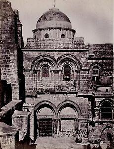 Jerusalem Israele Palestina Foto Albumina Stampa verso 1890 piccolo formato
