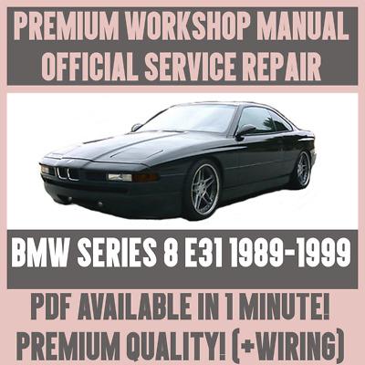 Workshop Manual Service Repair Guide For Bmw 8 Series E31 1989 1999 Wiring Ebay