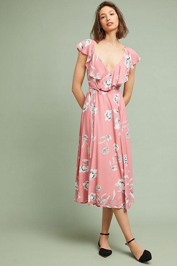 NWT  Anthropologie Yumi Kim Darby Wraparound Midi Dress Sz. Medium