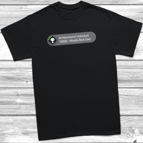 Réalisation Débloqué Worlds Best Dad T Shirt S-3XL XBOX fête des pères papa drôle