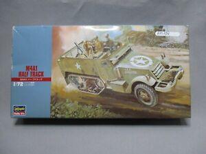 AM197-HASEGAWA-1-72-MAQUETTE-M4A1-HALF-TRACK-REF-31107-TRES-BON-ETAT