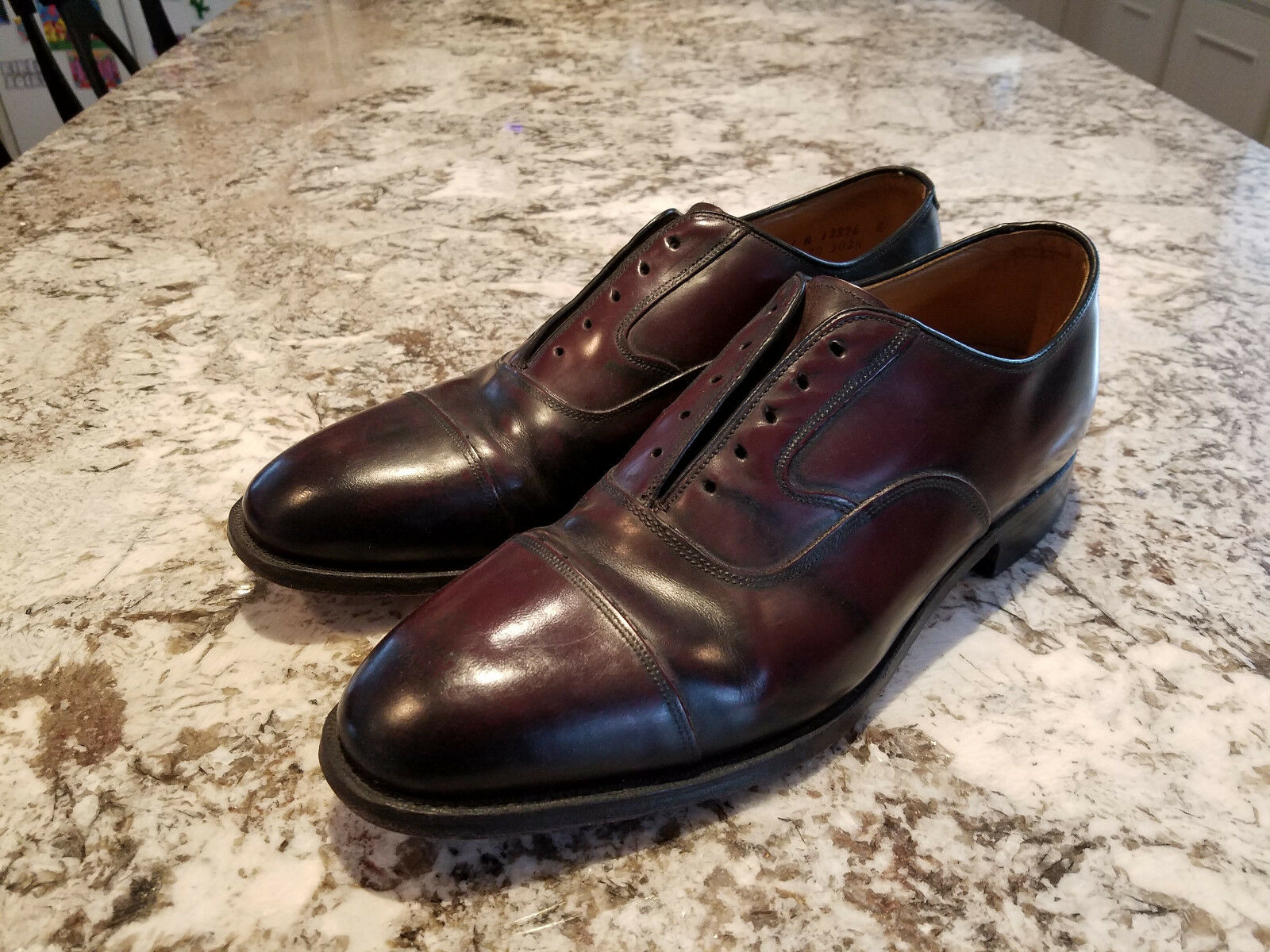 Johnston & Murphy Limited Melton Burgundy Captoe Mens shoes - 11C