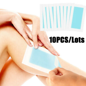 10PC-20sides-Face-Body-Hair-Removal-Depilatory-Wax-Strips-Papers-Waxing-Nonwoven