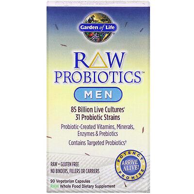 Garden of Life RAW Probiotics Men 90 Veggie Caps Gluten ...