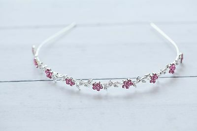 Flower Vine Tiara Photo Prop Crystal and Rhinestone 4054