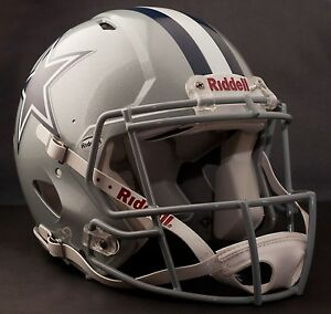 Image is loading GAMEDAY-AUTHENTICATED-Dallas-Cowboys-NFL-Riddell-Speed- Football- efe766051fc